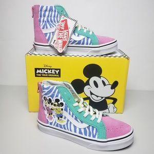 Vans Kids SK8-Hi Zip Disney 80's Mickey High Tops